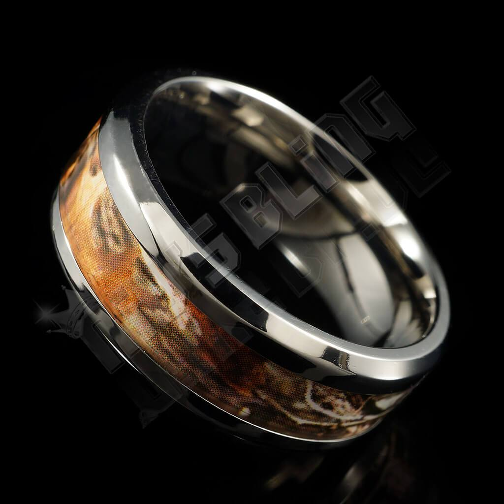 Titanium Realtree Camo Inlay Ring