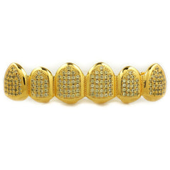 18k Canary Gold Top Bottom Grillz