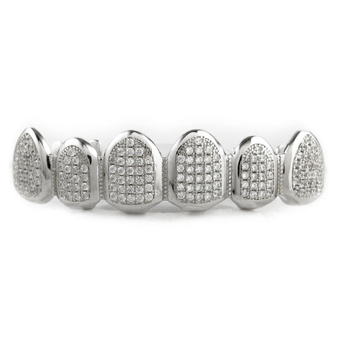Grillz - .925 Sterling Silver Top Bottom Grillz