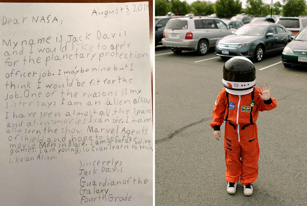 "9-year-old Jack Davis Applied for ""Planetary Protection Officer"" Position at NASA"