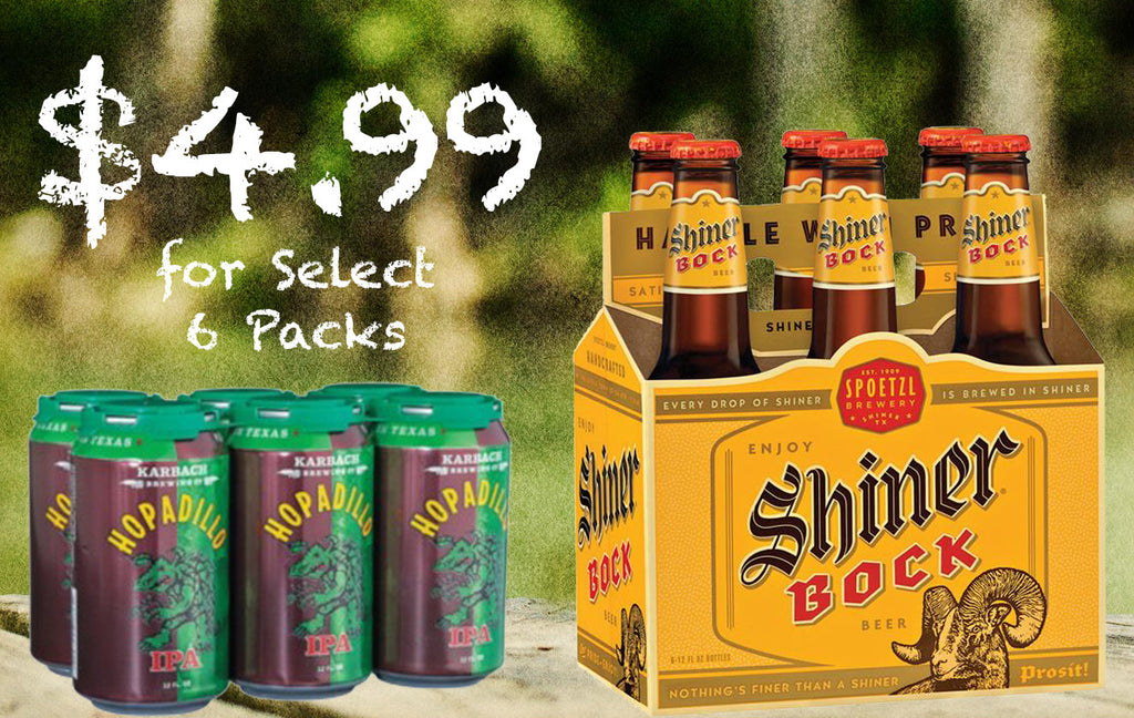 Cheap Beer at Randalls! $4.99 Saint Arnold, Karbach, Shiner 6-packs