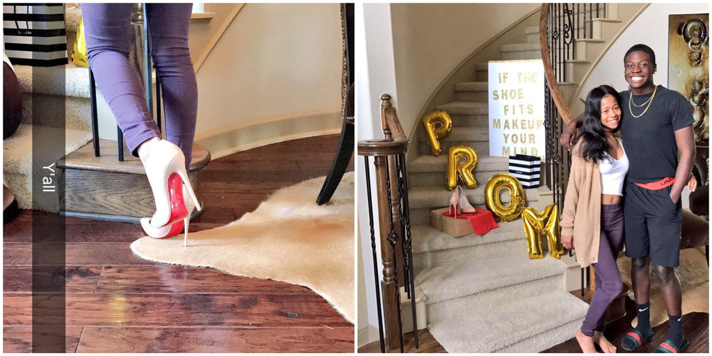 PAIR OF LOUBOUTINS AND PROM? TEEN'S PROMPOSAL SENDS INTERNET INTO A FRENZY