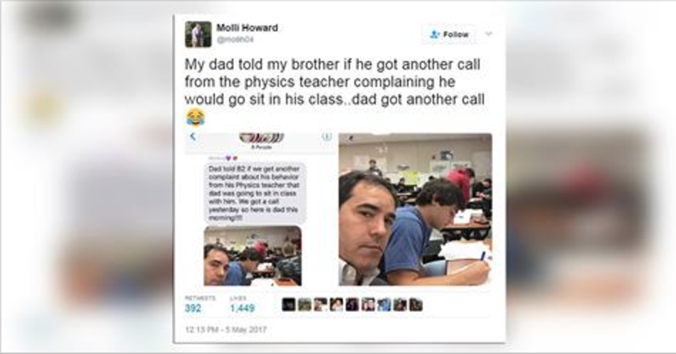 Texas Dad Keeps Good on Disciplinary Promise, Shows Up to Son's Class