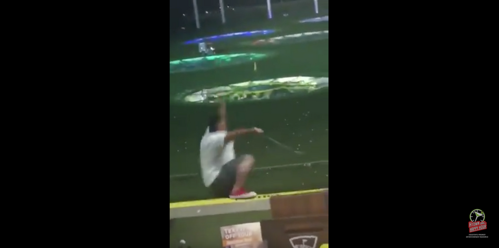 'Don't Drink Too Much and Golf': Texas Man Tumbles Off 2nd Story Topgolf Ledge on Video