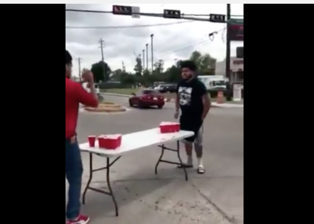 Pranksters Play Beer Pong in the Middle of Busy Houston Traffic on Video