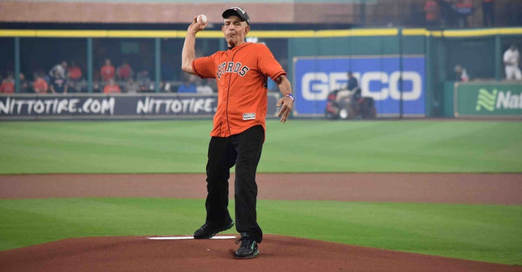 Mattress Mack treats Houston's first responders to a moment no Astros fan will ever forget