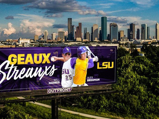 LSU roots for the Astros with 'Geaux Streauxs' billboards in Houston