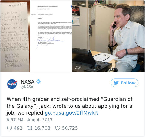 NASA Responds to 9 Year Old