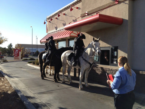 Horses at Whataburger