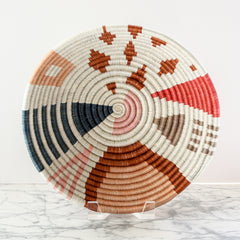 Medium Coral Cheza Bowl by Kazi Goods All Across Africa