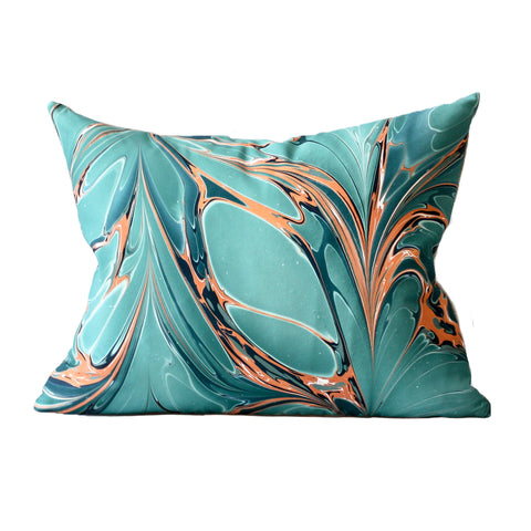 Stone Plume Bird of Paradise Lumbar Pillow by Rule of Three Studio
