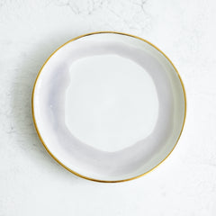 Suite One Studio Gold Rim Dessert Plate in Wisteria