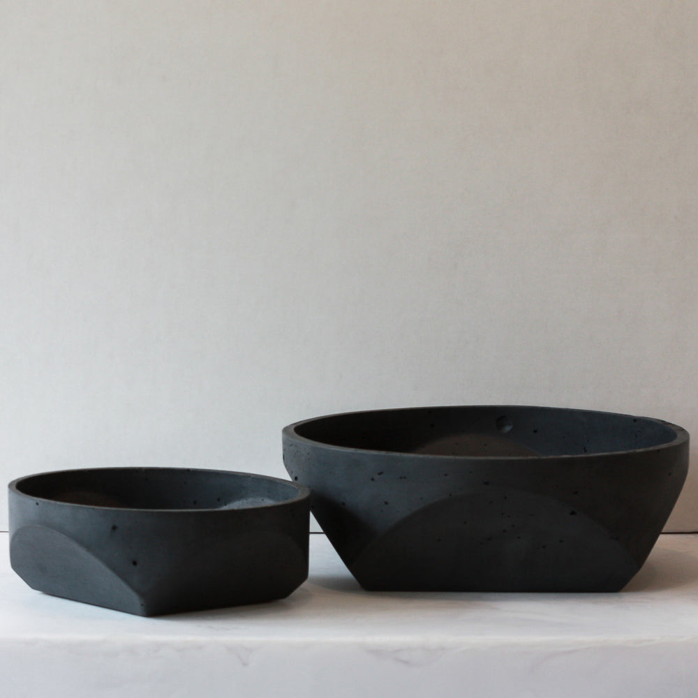 Concrete Bowl - Black