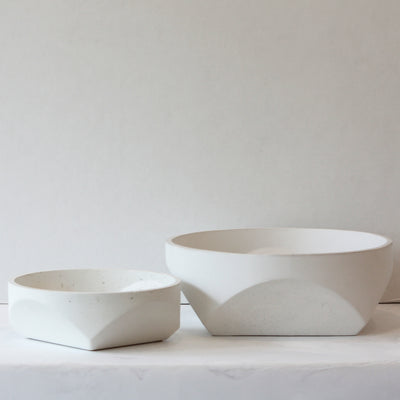Concrete Bowl - White in small and large