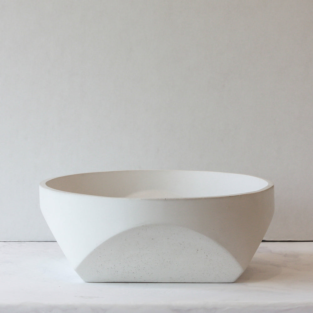 Concrete Bowl - White in large