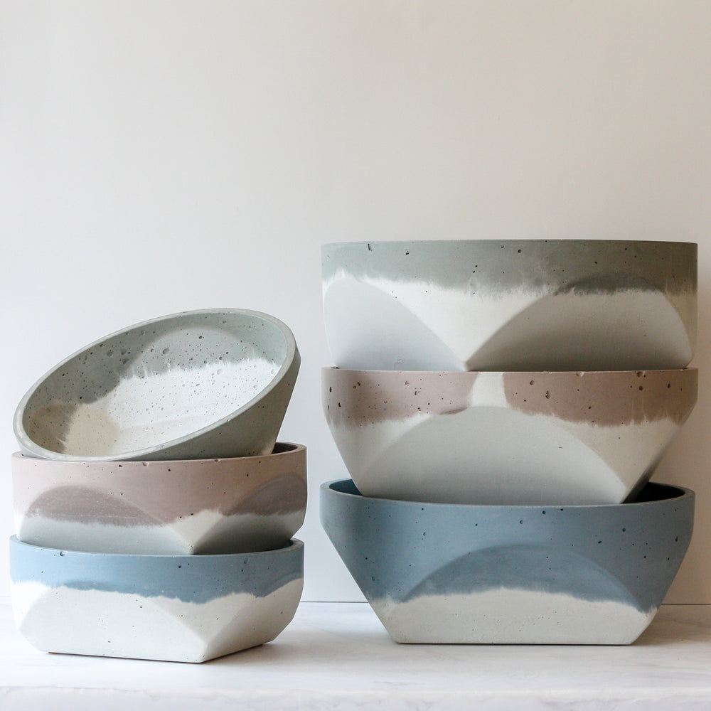 Cori x Anyon Bowls -olive, desert and sky in small and large