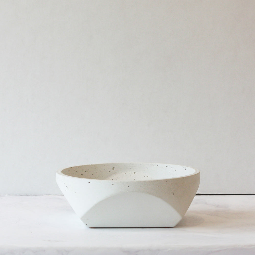 Concrete Bowl - White in small