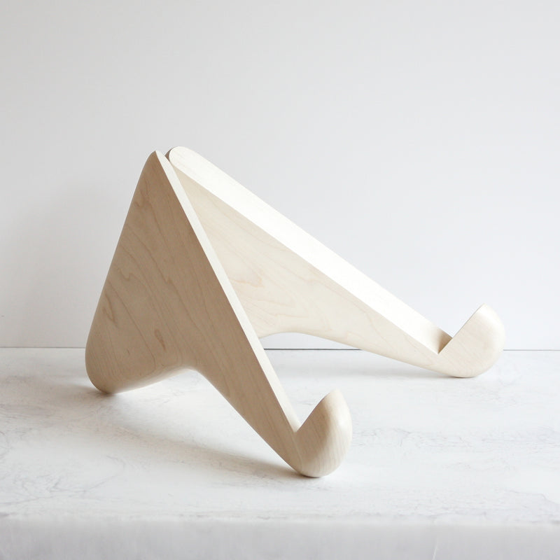 Wooden Bookstand By Erik Gustafsons Designer Home Accessories Made Using Bleached Maple