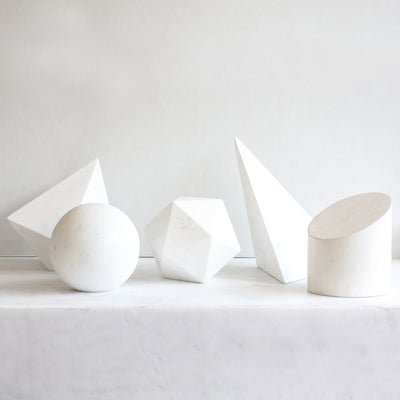 High End Home Décor In The Form Of A Geometric Sculpture By Amy Meier X Stone Yard From Fiberglass enforced concrete