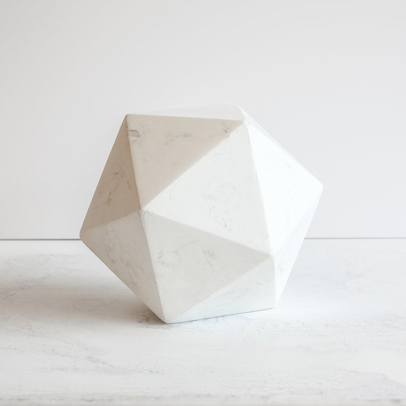 Geometric Sculpture For High End Home Décor By Amy Meir X Stone Yard Forme 3 Made From Fiberglass Reinforced Concrete