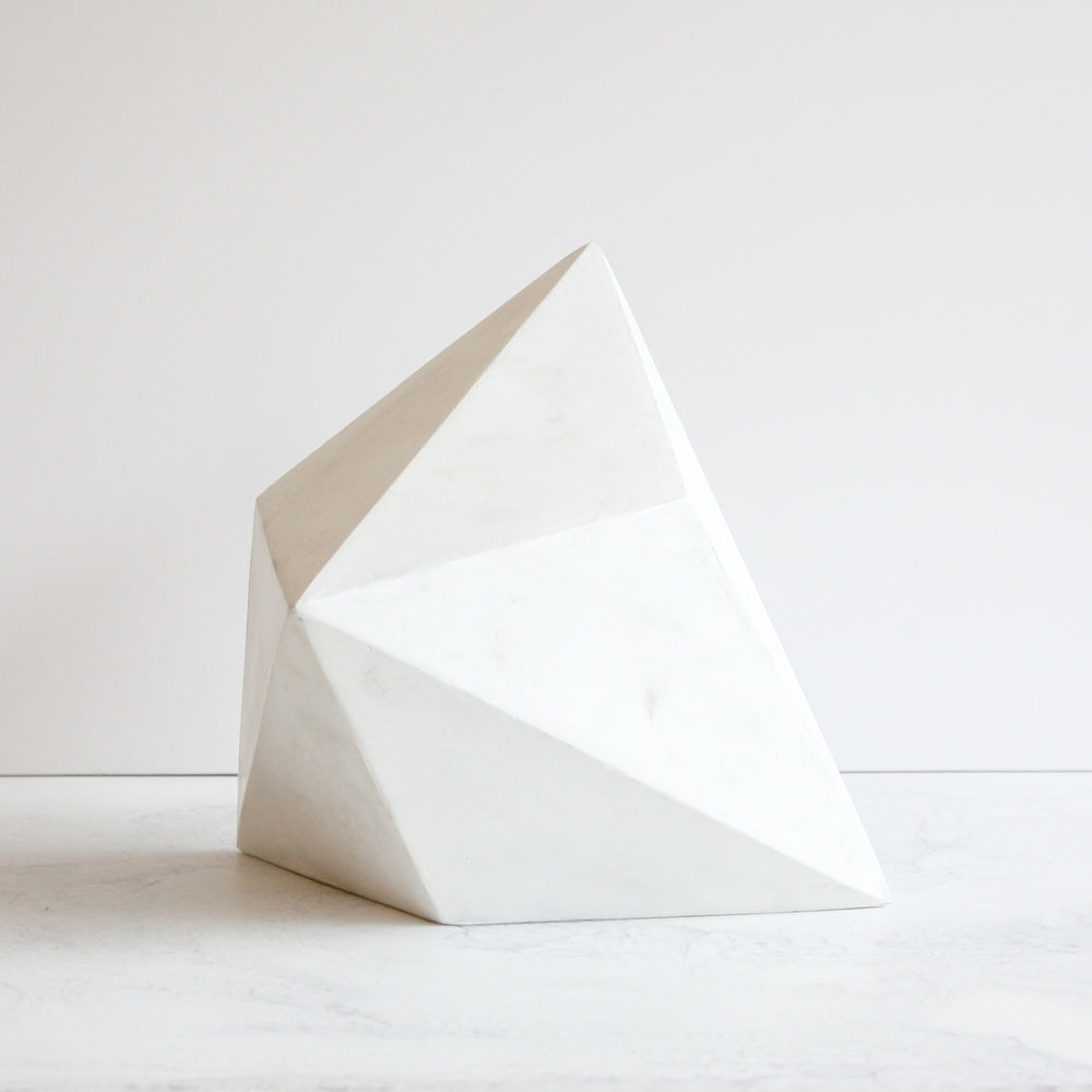 Amy Meier x Stone Yard geometric sculpture Forme Number Four