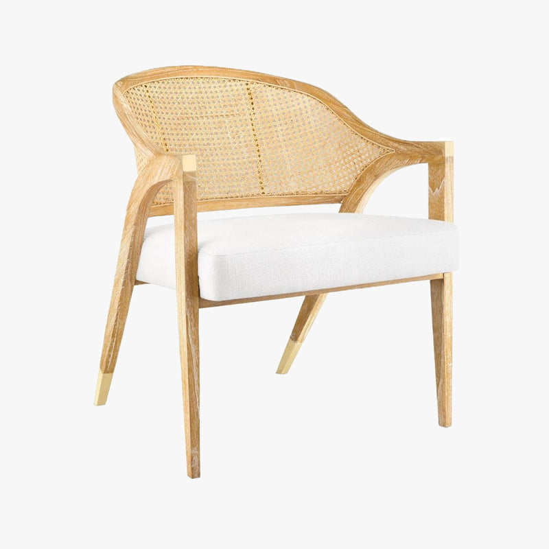 Modern Chair Designs Featuring An Edward Lounge Chair With A Natural Wooden Finish & Linen Cushion