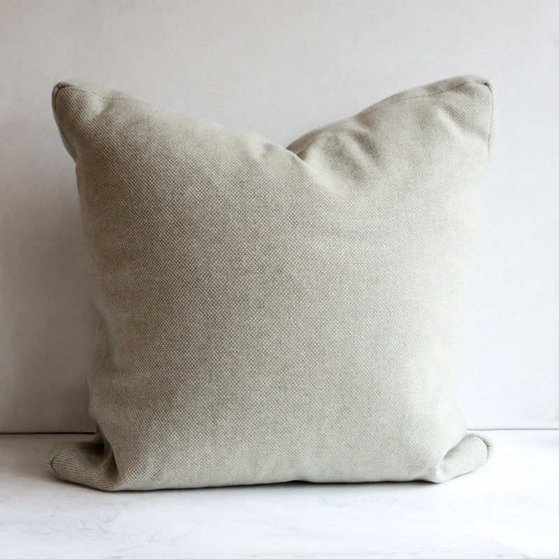 Woven green pillow
