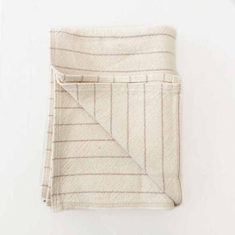 Cotton Pinstripe Throw