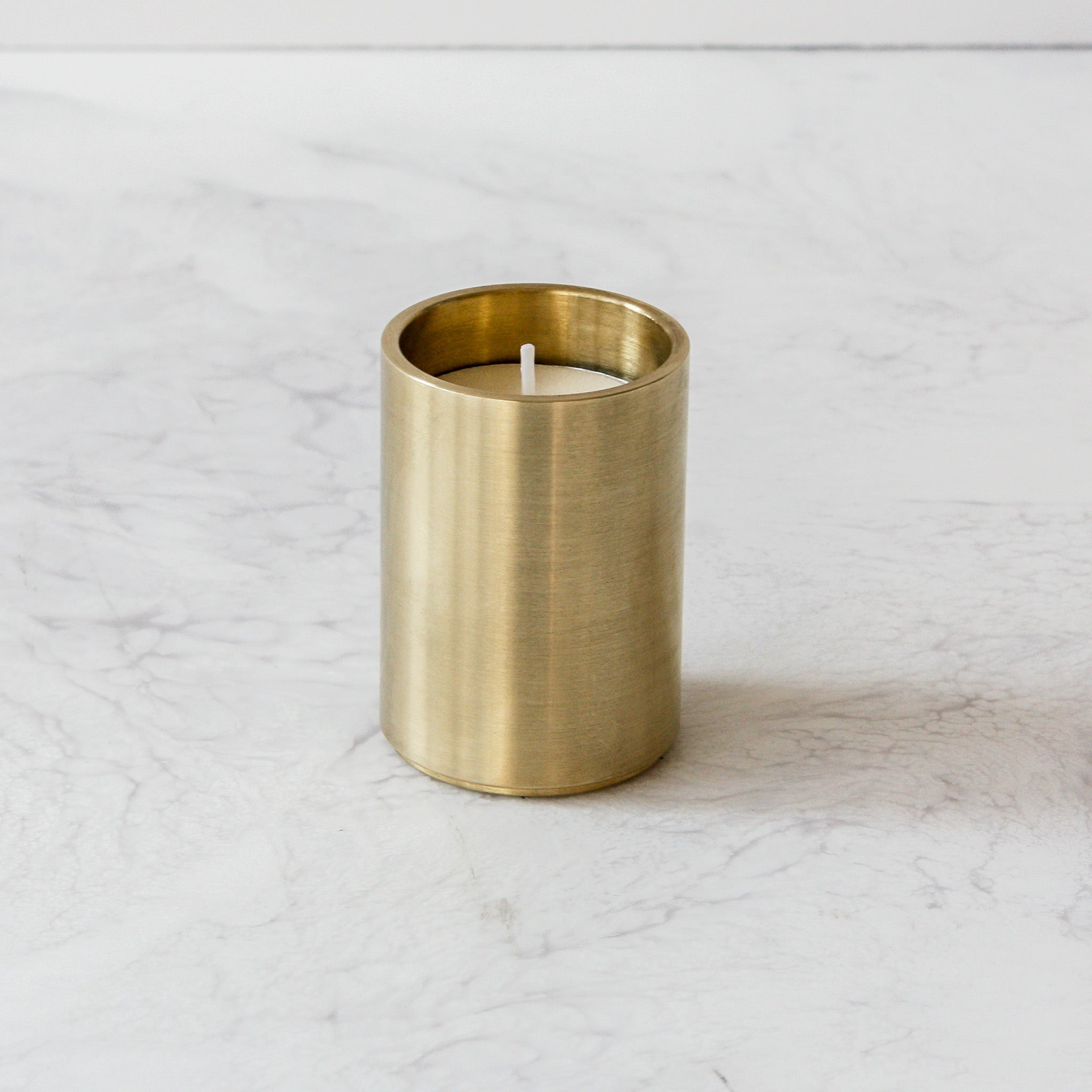 Solid Brass Round Tealight Votive