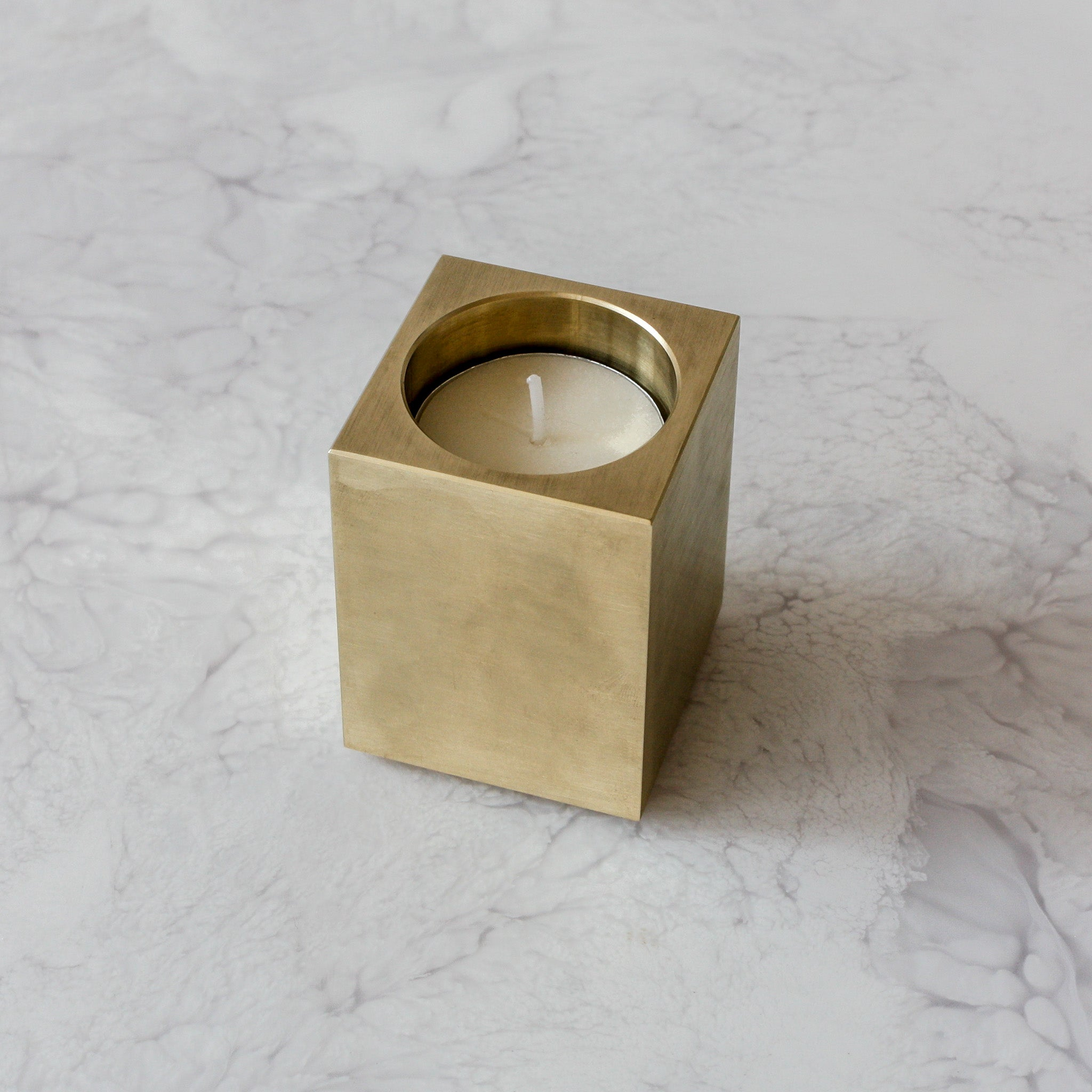 Solid Brass Match Square Votive