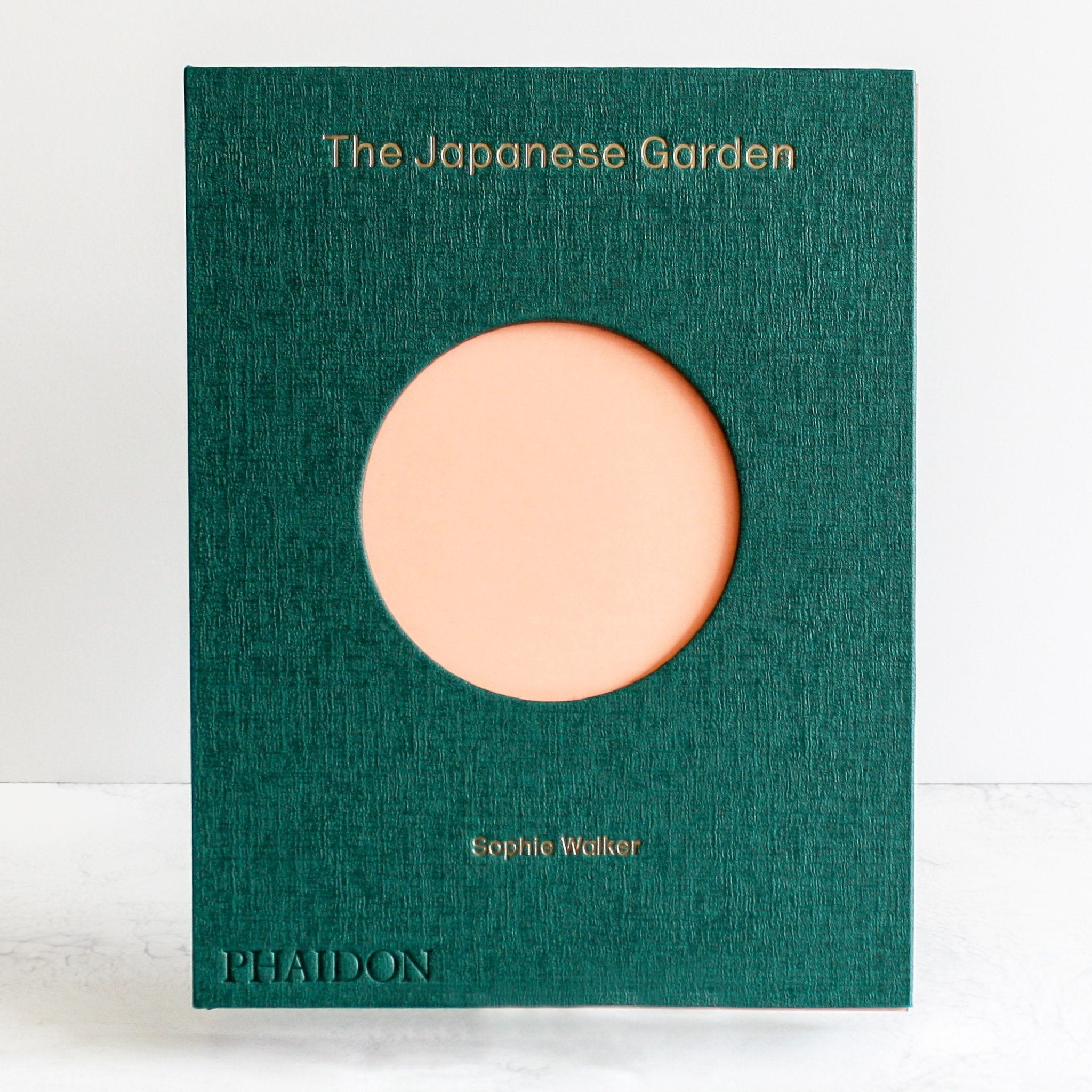 The Japanese Garden hardcover book green and pink by Sophie Walker