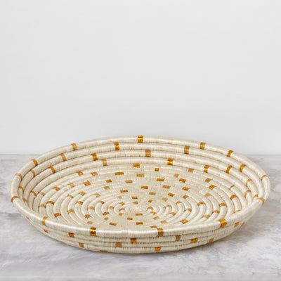 Dotted Gold Tray