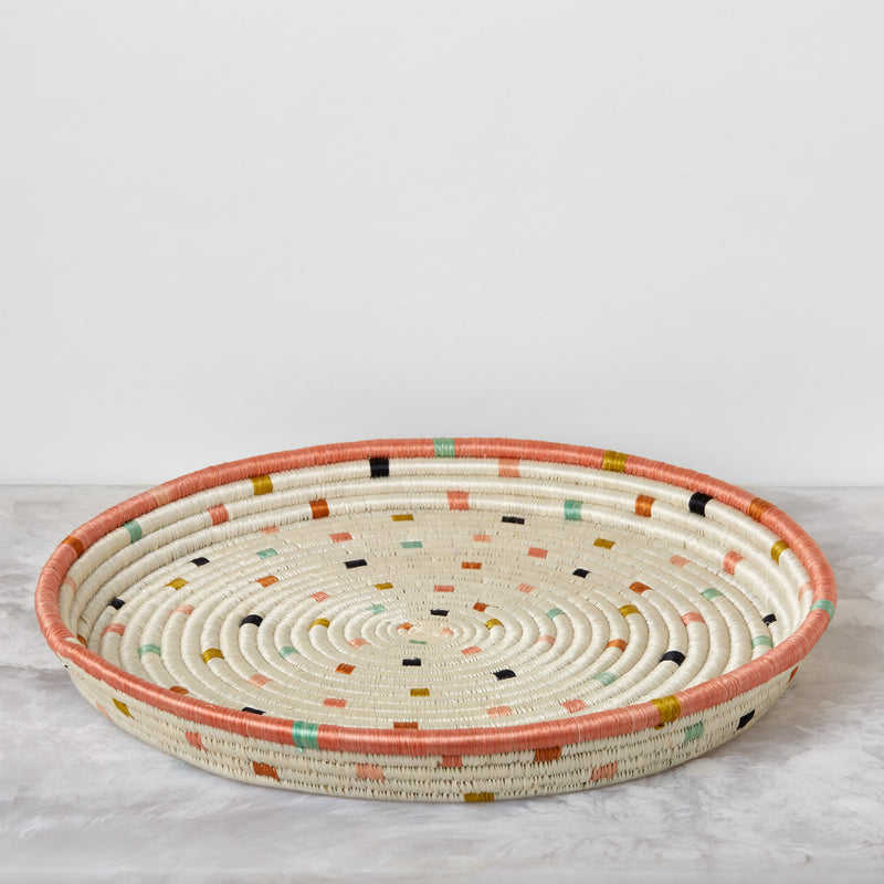Dotted Peach Tray