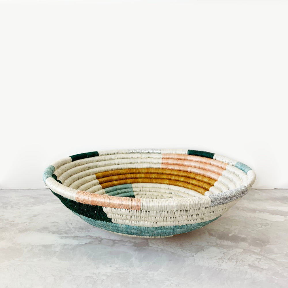 Metallic Floret Geo Basket
