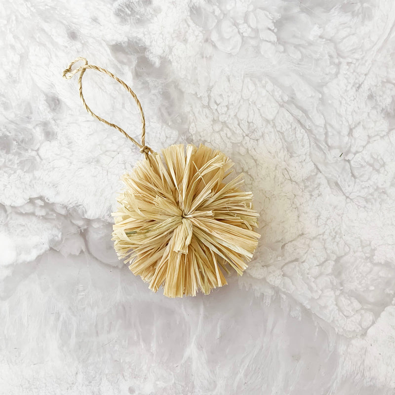 Natural Pom Pom Ornament