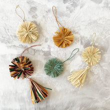 Load image into Gallery viewer, Mustard Pom Pom Ornament