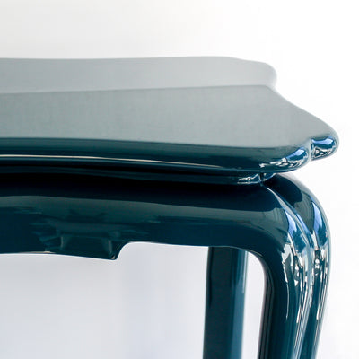 Lacquer Chinoiserie Table - Marine Blue