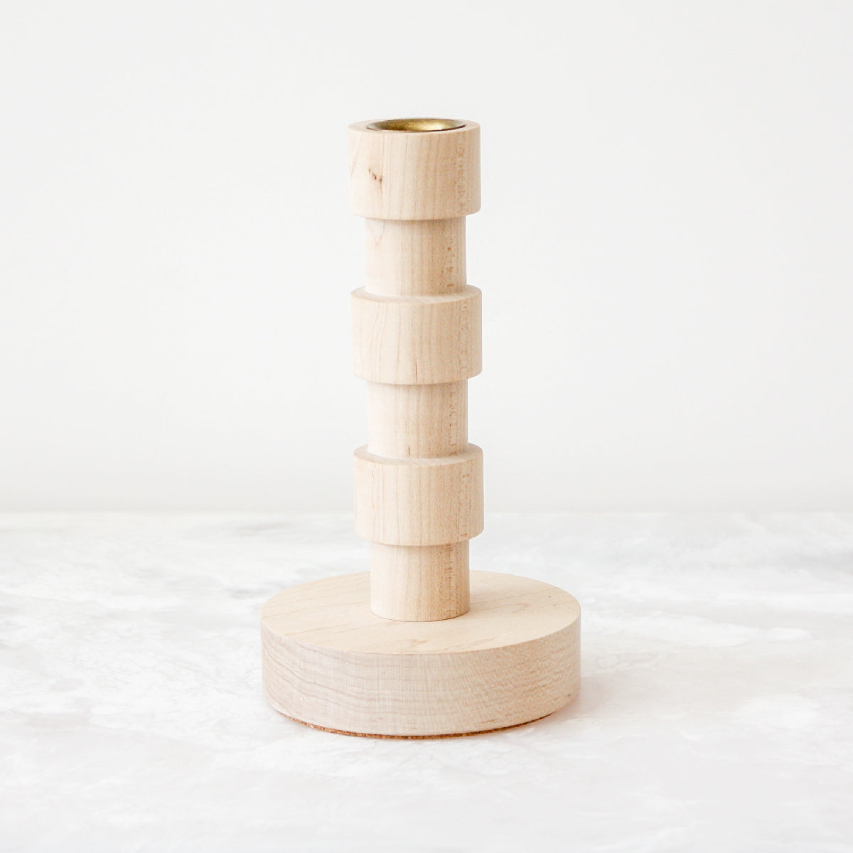 Franc Candle Holder made of maple wood by Lostine