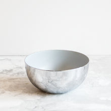 Load image into Gallery viewer, Chrome and light blue bowls by Louise Roe Copenhagen
