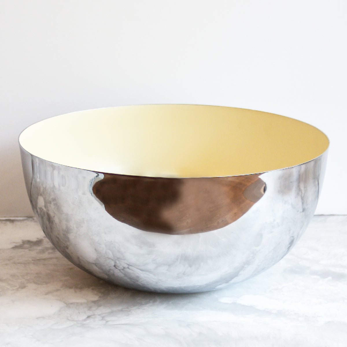 Chrome and Yellow Bowl by Louise Roe Copenhagen