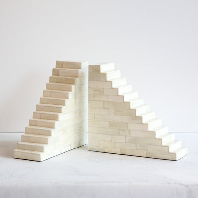Large Bone Staircase Bookends