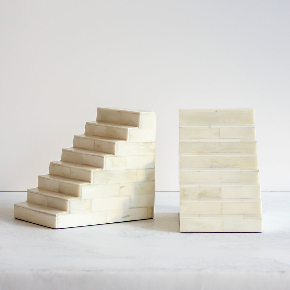 Small Bone Staircase Bookends