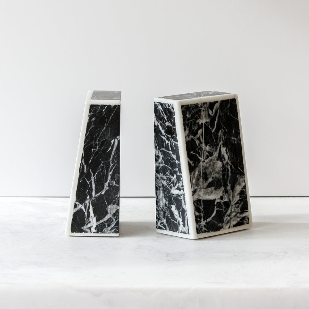 Griffen Marble Bookends
