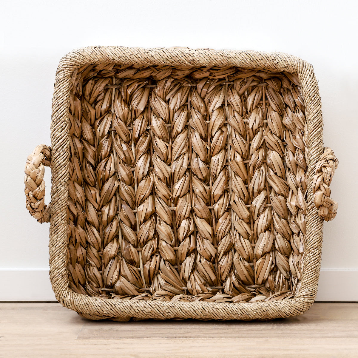 Kenley Tray made of woven seagrass by Made Goods
