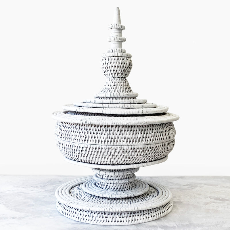 White Pagoda Basket