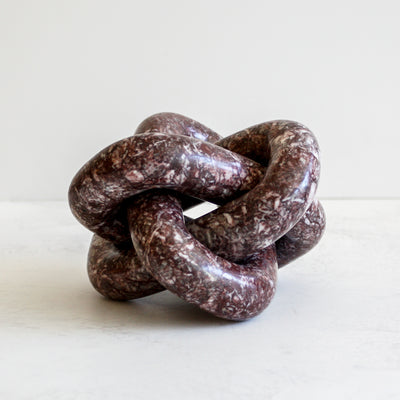 Tallis stone sculpture in mauve by Made Goods