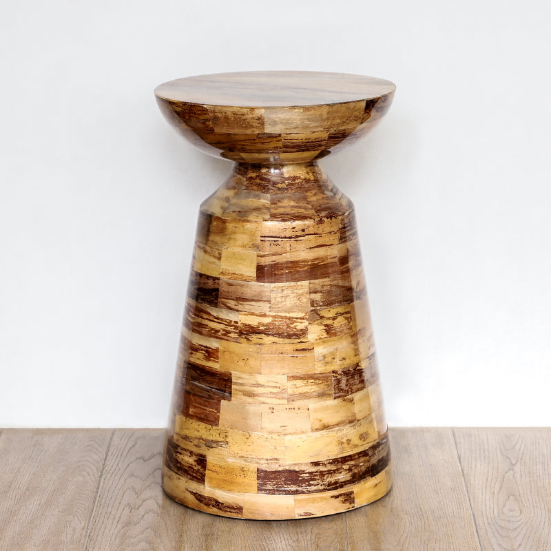 Modern Willem Side Table For Your Bedroom Made Using Banana Bark & Lacquer