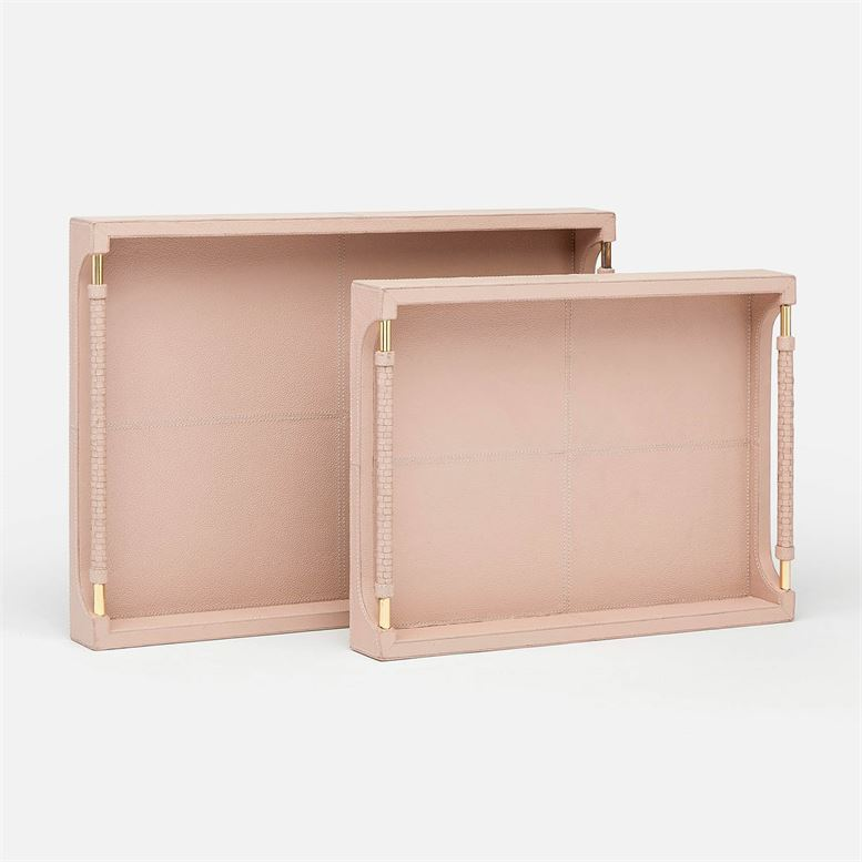 Lenora Trays in dusty rose