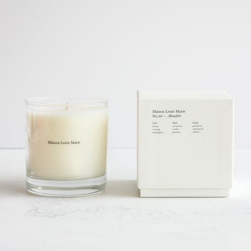 No. 10 Aboukir Soy Blend With Cotton Wick Candle By Mason Louise Marie Available At Home Decor Stores In San Francisco