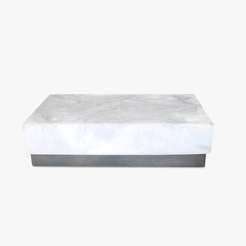 martha sturdy resin white cocktail table luxury designer furniture san francisco